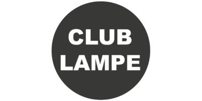 Logo club lampe zwart live